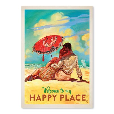 Americanflat 'Happy Place' by Anderson Design Group Vintage advertisement