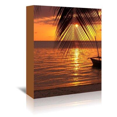 Americanflat Wonderful Dream Zanzibar Sunset Palm Ocean Photographic Print Wrapped on Canvas