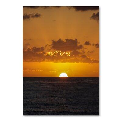 Americanflat Wonderful Dream Wonderful Sunset Holiday Ocean Photographic Print