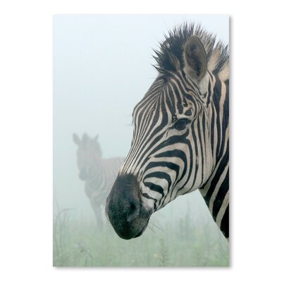 Americanflat Wonderful Dream Zebra in the Fog Photographic Print