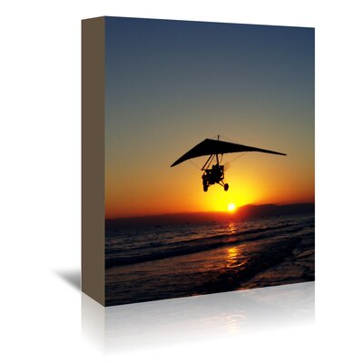 Americanflat Wonderful Dream Sunset with Flying Style Photographic Print Wrapped on Canvas