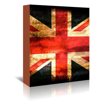 Americanflat Wonderful Dream United Kingdom England Flag Graphic Art Wrapped on Canvas