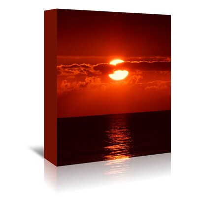 Americanflat Wonderful Dream Sunset with Clouds and Ocean Photographic Print Wrapped on Canvas