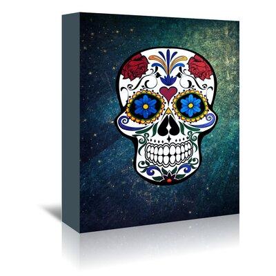 Americanflat Wonderful Dream Trendy Skull Horror Graphic Art Wrapped on Canvas