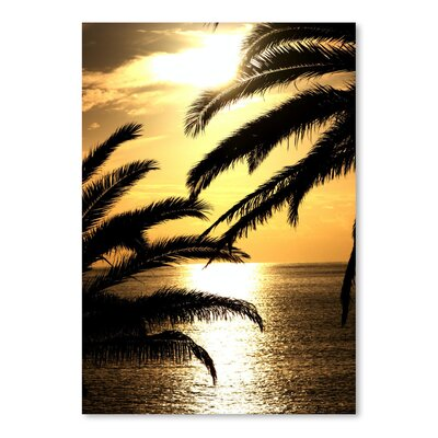 Americanflat Wonderful Dream Sunset with Palm Leaves Travel Photographic Print
