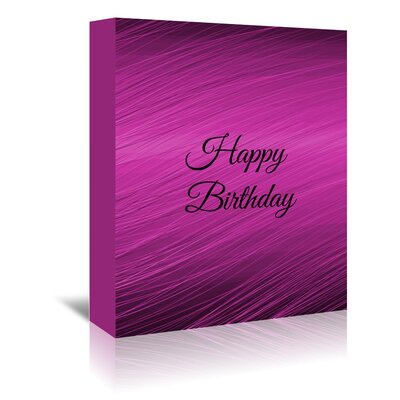 Americanflat Wonderful Dream Happy Birthday Typography Wrapped on Canvas