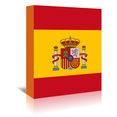 Americanflat Wonderful Dream Spain Flag Graphic Art Wrapped on Canvas