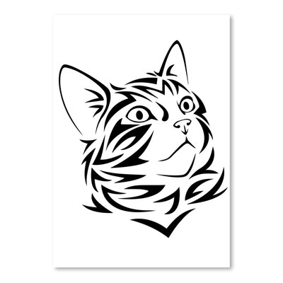 Americanflat Wonderful Dream Tribal Cat Kitten Animal Graphic Art