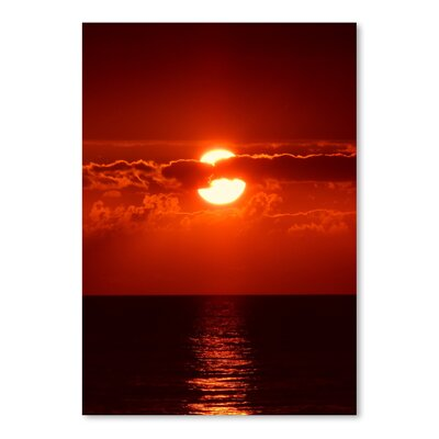 Americanflat Wonderful Dream Sunset with Clouds and Ocean Photographic Print