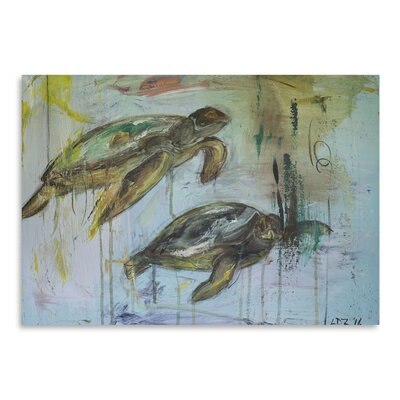 Americanflat 'Two Turtles' by Laura D Zajac Art Print