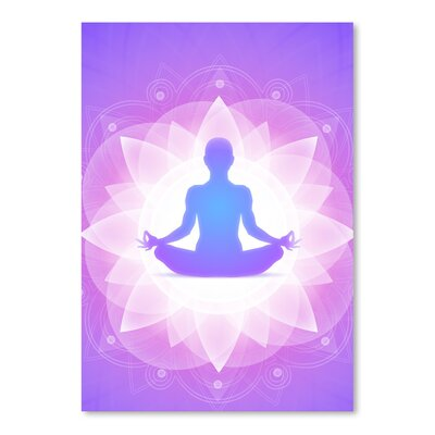 Americanflat Wonderful Dream Purple Yoga Faith Meditation Graphic Art