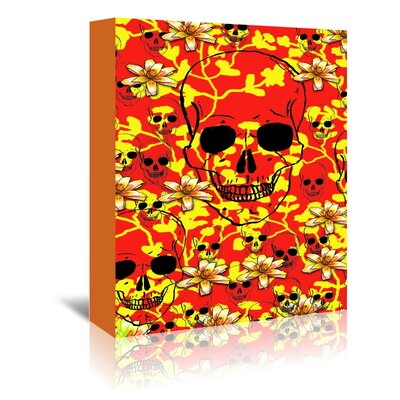 Americanflat Wonderful Dream Pattern Skull Design Graphic Art Wrapped on Canvas