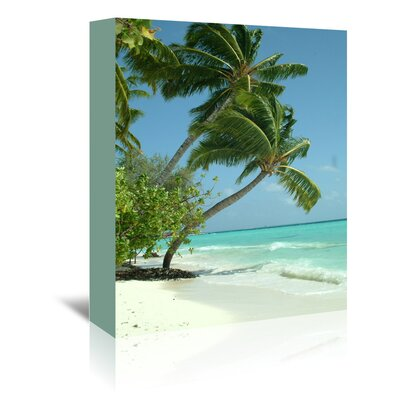 Americanflat Wonderful Dream Maldives Beach Travel Holiday Photographic Print Wrapped on Canvas
