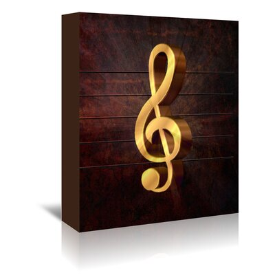 Americanflat Wonderful Dream Music Clef Style Musically Graphic Art Wrapped on Canvas