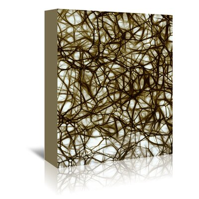 Americanflat Wonderful Dream Modern Healthy Neurons Style Graphic Art Wrapped on Canvas