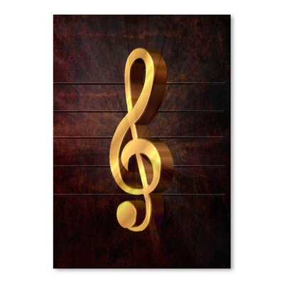 Americanflat Wonderful Dream Music Clef Graphic Art