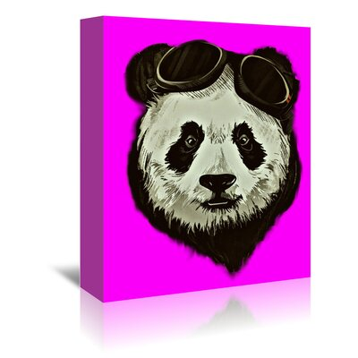 Americanflat Wonderful Dream Hipster Panda Bear Style Graphic Art Wrapped on Canvas