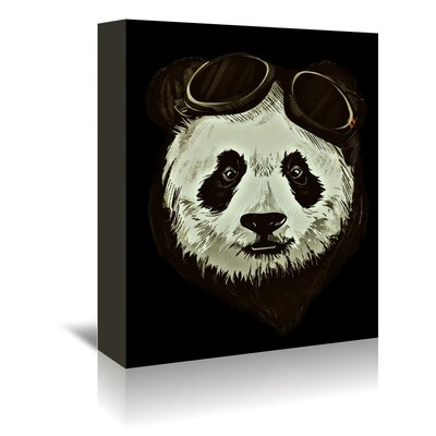 Americanflat Wonderful Dream Hipster Panda Bear Animal Graphic Art Wrapped on Canvas