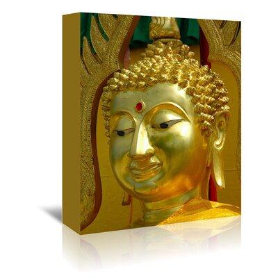 Americanflat Wonderful Dream Golden Buddha Symbol Meditation Photographic Print Wrapped on Canvas