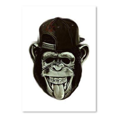 Americanflat Wonderful Dream Hipster Monkey Ape Animal Graphic Art