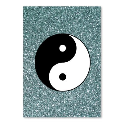 Americanflat Wonderful Dream Glitter Shiny with Ying and Yang Graphic Art