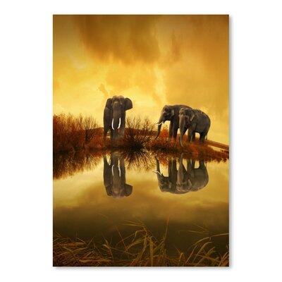 Americanflat Wonderful Dream Fantasy Elephant Graphic Art