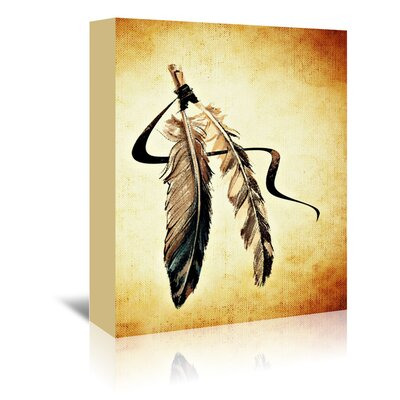 Americanflat Wonderful Dream Feather Bird Paint Graphic Art Wrapped on Canvas