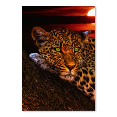 Americanflat Wonderful Dream Gepard Leopard Sunset Animal Cat Photographic Print