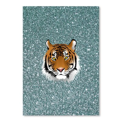 Americanflat Wonderful Dream Glitter Sparkly with Tiger Graphic Art