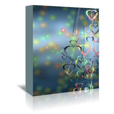 Americanflat Wonderful Dream Falling Heart Love Romance Graphic Art Wrapped on Canvas