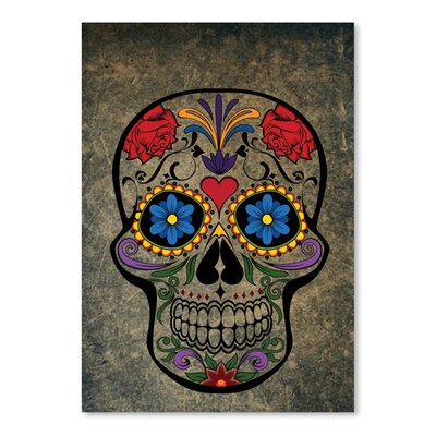 Americanflat Wonderful Dream Floral Skull Gothic Graphic Art