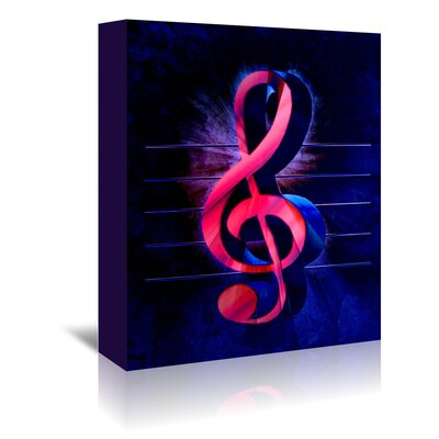 Americanflat Wonderful Dream Colourful Music Clef Style Graphic Art Wrapped on Canvas