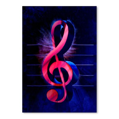 Americanflat Wonderful Dream Colourful Music Clef Style Graphic Art