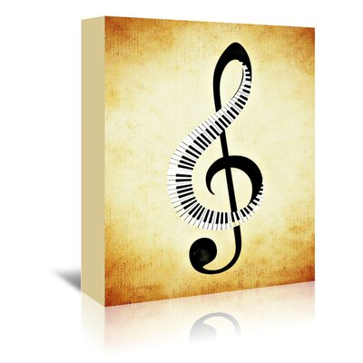Americanflat Wonderful Dream Clef Music Graphic Art Wrapped on Canvas