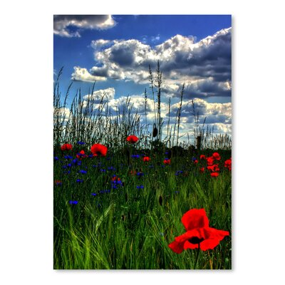Americanflat Wonderful Dream Colourful Landscape with Tulip Photographic Print