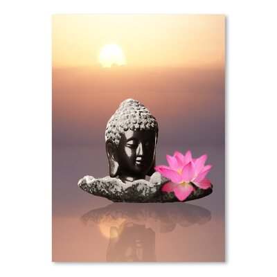 Americanflat Wonderful Dream Buddha with Lotus Flower Graphic Art