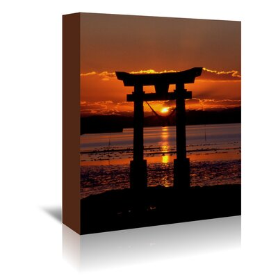 Americanflat Wonderful Dream Asia Symbol Sunset Ocean Photographic Print Wrapped on Canvas