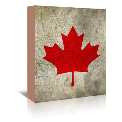 Americanflat Wonderful Dream Canada Flag Graphic Art Wrapped on Canvas