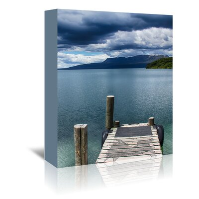Americanflat Wonderful Dream Beach Pier Holiday Travel Photographic Print Wrapped on Canvas