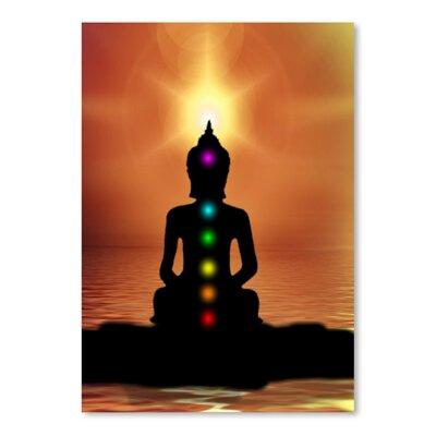 Americanflat Wonderful Dream Buddha with Sunset Graphic Art
