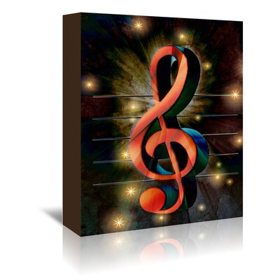 Americanflat Wonderful Dream Abstract Clef Music Musically Graphic Art Wrapped on Canvas