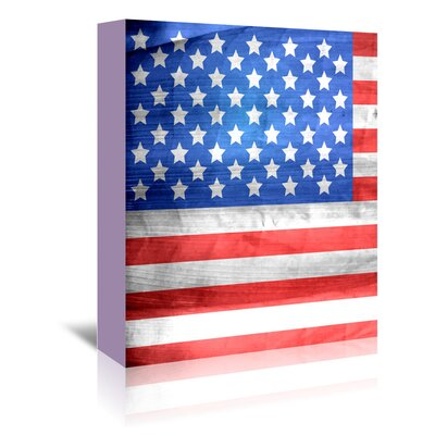 Americanflat Wonderful Dream American US Flag Graphic Art Wrapped on Canvas