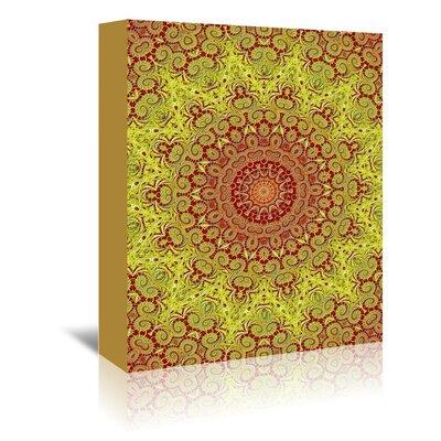 Americanflat Wonderful Dream Asia Mandala Buddha Style Graphic Art Wrapped on Canvas