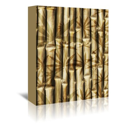 Americanflat Wonderful Dream Asia Bamboo Nature Graphic Art Wrapped on Canvas