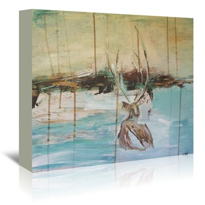 Americanflat 'Resting Stag' by Laura D Zajac Art Print Wrapped on Canvas
