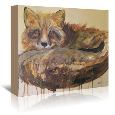 Americanflat 'Drip Fox' by Laura D Zajac Art Print Wrapped on Canvas