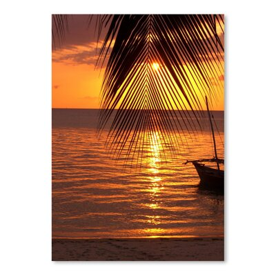 Americanflat Wonderful Dream Zanzibar Sunset Palm Ocean Photographic Print