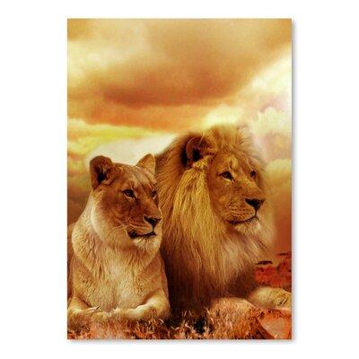 Americanflat Wonderful Dream Wildlife Lion Cat Savanna Photographic Print