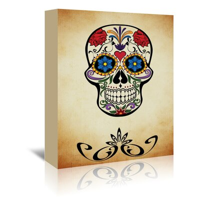 Americanflat Wonderful Dream Graphic Design of Horror Skull Graphic Art Wrapped on Canvas