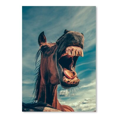 Americanflat Wonderful Dream Funny Lucky Horse Animal Photographic Print